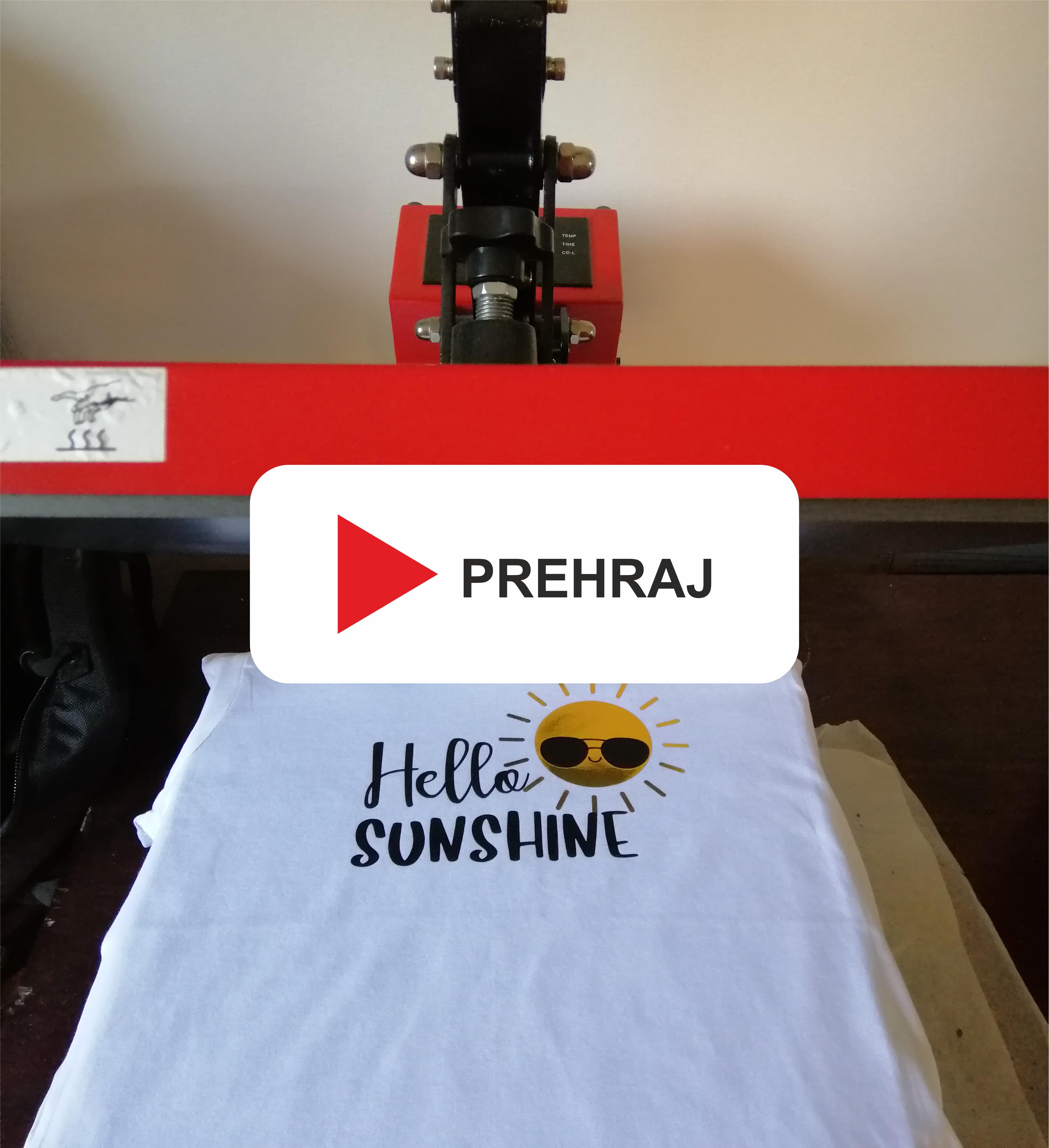 Video mávod nažehľovania trička